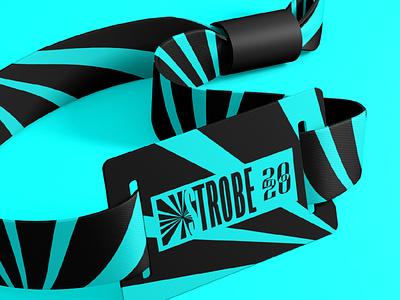 STROBE | Wristband design packaging logo design identity stripes music festival wristband vector brand and identity brand logo branding