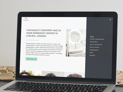 Chelsea Dental Spa 🇬🇧 London newwebsite web design digital marketing website branding rebrand