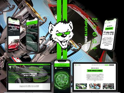 Topcats Racing Launch brand identity identity sports cars sports car automotive racing car racing websites web design website design webdesign website brand and identity brand branding