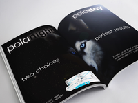 Double Page Spread for Night/Day teeth whitening product