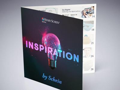 Spot-UV front cover | square brochure