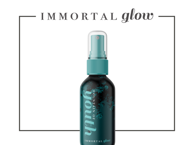 Immortal Glow Beauty Branding brand packaging lettering typography logo a day vector logo design identity brand and identity branding