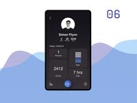 Fitness tracker user screen