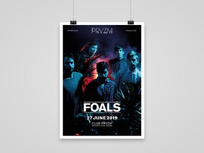 FOALS concert flyer indesign afisha gig poster flyer concert foals