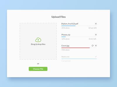 Uploading file manager clear design simple design ui designer design daily ui dailyui031 figma uploading file upload