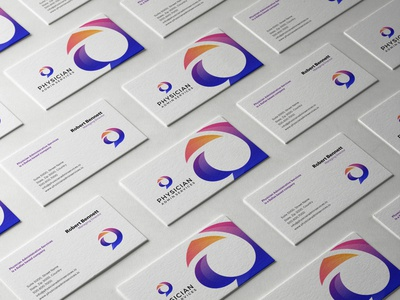 Physician Administrative Services Business Card Design stationery design business card branding