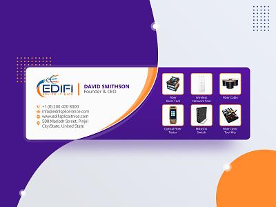 Email Signature | EdiFi Splice IT Nice design flat design email design email signature illustration abstract branding