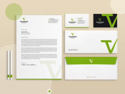 Stationery Package Design | Tacenski Vrtovi minimal envelope business card letterhead flat design flat stationery abstract design branding