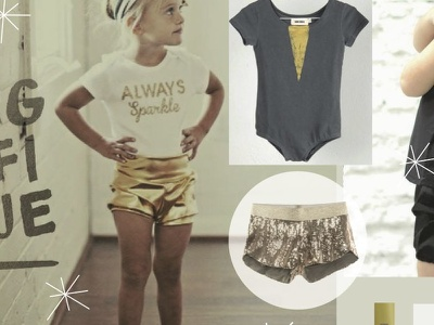 Gold Mood. Summer Luxury Collection Boys and Girls fashion design graphic retail kids