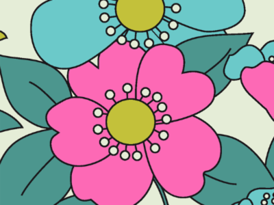70s Floral Pattern Inspired. Home Room