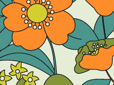 70´s Floral Fabric Inspired