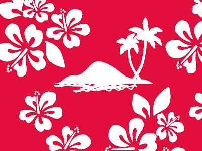 Hawaiian Classic designer textile fabrics pattern island palms beach summer childrens hawaiian classic retro