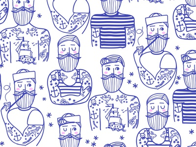 Hipster Sailor Tattoo Parlour
