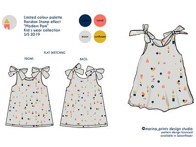 Limited Colour Palette- retail illustration babies kids fashion patterns textile