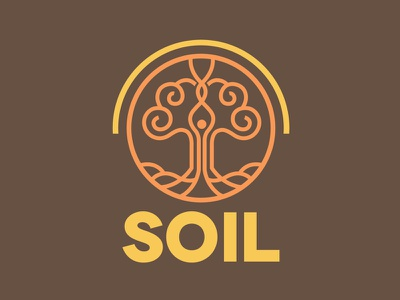 SOIL - School of internal literacy earth school minimal tree identity cosmos logo yoga meditation soil