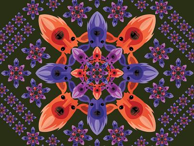 Fractal Design flower repetition radial deer stag pattern fractal