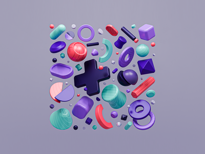 Abstract: Systematic colorful abstract design illustration shapes freebies design cozy diorama low poly 3d concept wallpapers blendercycles blender 3d artist 3d art 3d abstract wallpaper freebie