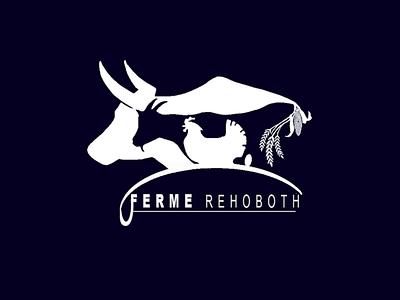Visual brand identity design for farm rehoboth - white branding brand design farm logo farming logo farm