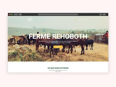 Farm Rehoboth Website Concept webdesign website farm website farming farm