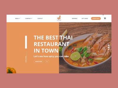 LAZY FOX THAI CUISINE flat logo branding ui app design app ux minimal design animation