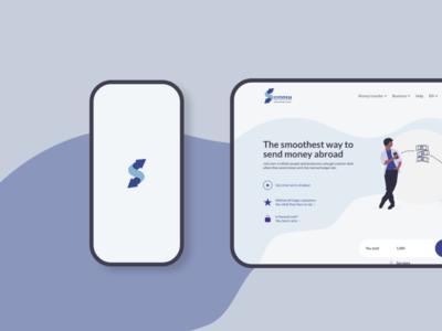 SWOOSH MONEY TRANSFER website web design web webdesign branding app design ux minimal design animation