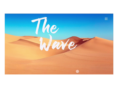 DAILY UI CHALLENGE - DAY 4 (THE WAVE, AZ)