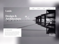 DAILY UI CHALLENGE - DAY 6 (LANDA ARCHITECTURAL SERVICES)