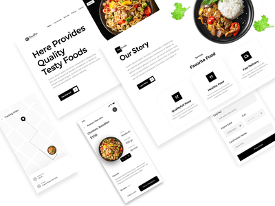 Food Delivery Landing Page 🍕 delivery logo landingpage food app web wedesign food landing page delivery delivery app black white health resturent clean food and drink uidesign uxdesign ux uiux ui figma