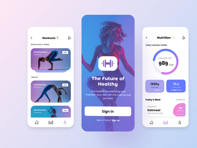 Fitness Mobile App weight stats interface ios gym coach activity clean health fitness app fitness app design ui exercise sport workout uiux mobile app app ux