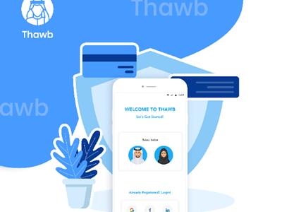 Thawb app thawb app design ui ux design