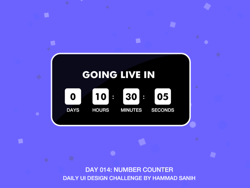 DailyUI Day 014: Number Counter number counter counter typography hammadsanih adobe xd vector ux ui dailyui design app