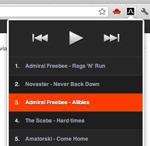 Loop - YouTube playlist for Chrome playlist play extension black orange music player video