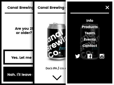 CBC white black bw severe cans brewery brews mobile beer