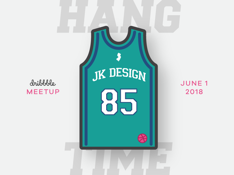JK Design Dribbble Meetup nj illustration jersey hoops summer meetup jk design