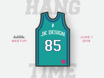 JK Design Dribbble Meetup nj illustration jersey hoops summer meetup jk design