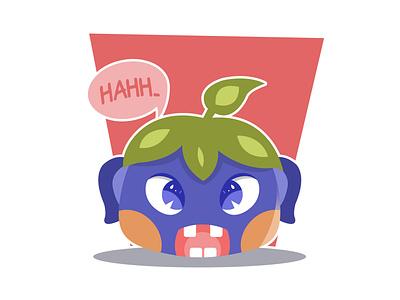 Purple Alien Character flat  design purple fruit alien character childrenillustration animation flat desig minimal illustrator acp.stds cute art colorful art artwork vector illustration icon flat design art
