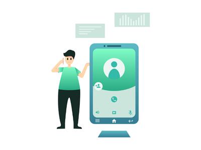 Mobile Application Illustration flatdesign flatillustration
