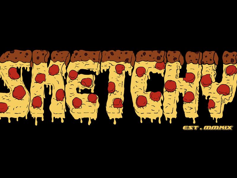 Sketchy Pizza apparel apparel design clothing company merch design merchandise design clothing label clothing design clothing brand clothing vector branding illustrator art design illustration tshirt graphics tshirt design illustration digital