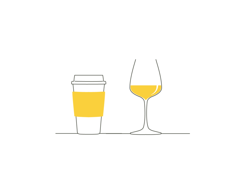 More Tappy icons the new yorker style tappy flat illustration minimal illustration minimalism cups glasses branding illustration