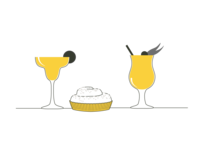 Yet more Tappy icons flat illustration tappy the new yorker style glasses cocktails minimal illustration illustration icons branding