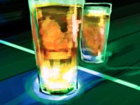 glowing beer