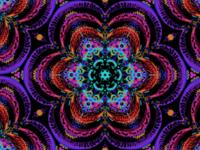Psychedelic corpse flower kaleidoscope