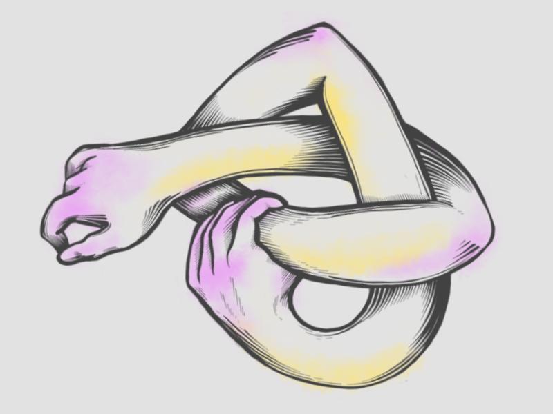 Noodles arms sketch digital illustration procreate