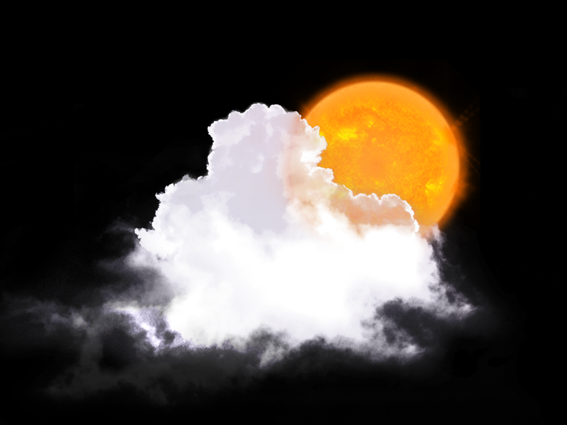 Weather icon photoshop partly cloudy clouds sun illustration icon weather