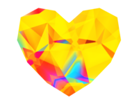 Kaleidoscopic technicolor dream heart