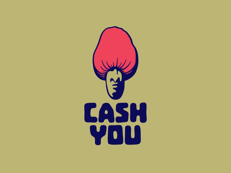 Cash You nut cash loans finance design logo typography lettering vector illustration