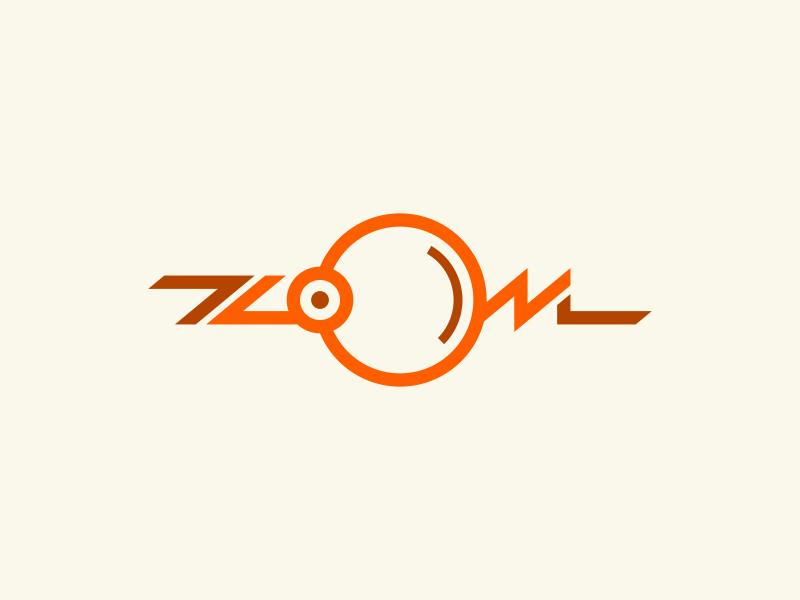 Zoom zoom magnifier logo lettering typography design illustration vector