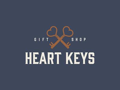 Heart Keys wedding keys hearts logo typography design vector illustration