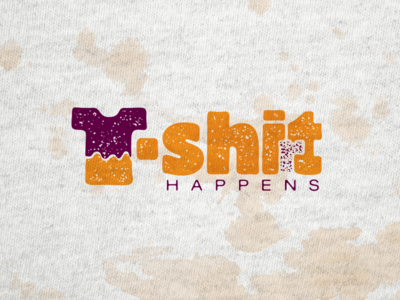 T- Shi(r)t Happens logo t-shirt print lettering typography design illustration vector