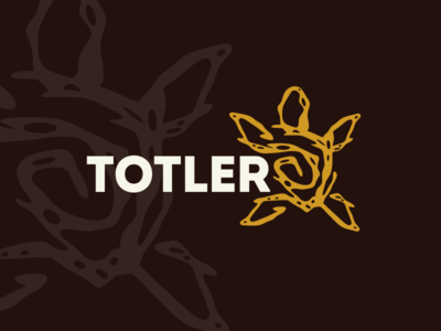 Totler turtle typography logo design illustration vector